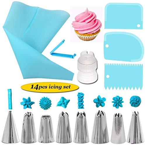 UOFit 14Pcs Cake Decorating Supplies Kit Kitchen Dessert Baking Pastry Supplies Candy Making Molds