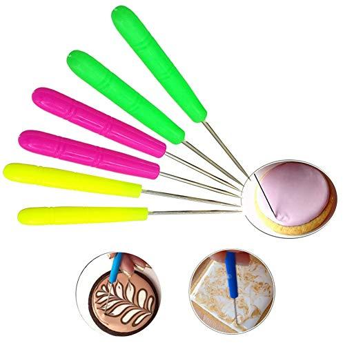 6 PCS Sugar Stir Needle Scriber Needle Modelling Tool Biscuit Cookie Icing Pin Cake Decorating Needle Tool Sugar Cookie Decorating Supplies Baking Scribe Tool Marking Patterns Icing Sugarcraft