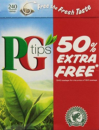 Pg Tips 240 Bags 2pk 160 Bags 80 Bags Free- 480 teabags total