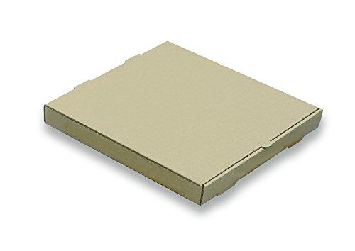 W PACKAGING WPPB18K2P Plain Pizza Box B-Flute 2 Deep 18 Kraft Pack of 50