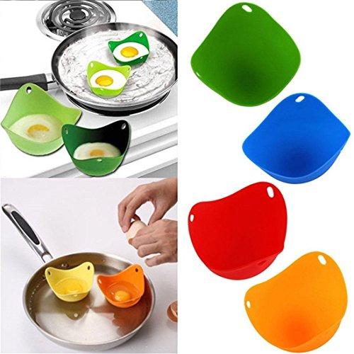 VWH Silicone Egg Poacher Set of 4 BPA Free