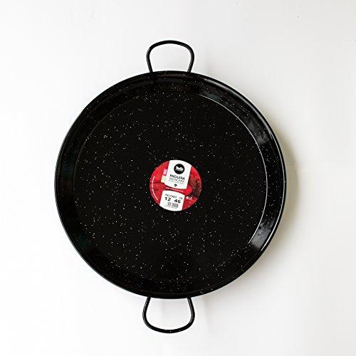 Paella Pan Enamelled Carbon Steel 18 Inch  46cm  Serving 12 people