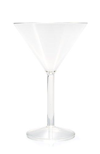 Camco 43900 Polycarbonate 10 oz Capacity Martini Glass Pack of 8