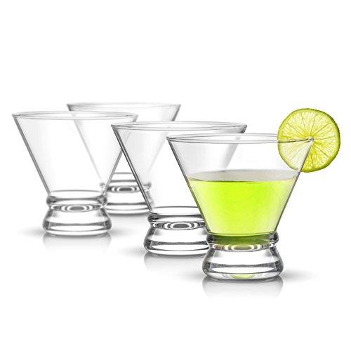 JoyJolt Afina 4-Piece Cocktail Glasses Set 8-Ounce Martini Glasses