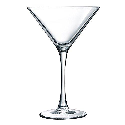 Luminarc N4132 Arc International Atlas Martini Glass Set of 4 75 Oz Clear