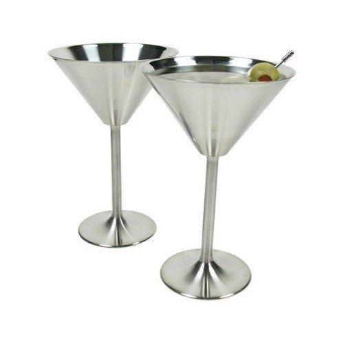 RSVP Endurance Stainless Steel Martini Glasses Set of 2