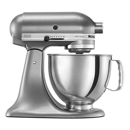 KitchenAid KSM150PSCU Artisan Series 5-Qt Stand Mixer with Pouring Shield - Contour Silver