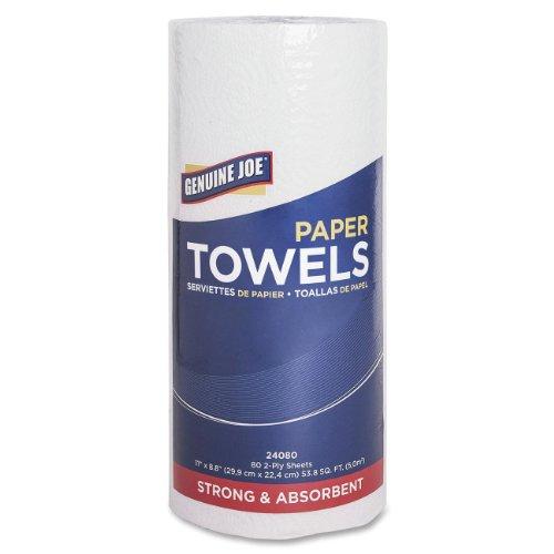 Genuine Joe 2-Ply Household Roll Paper Towels Pack of 30