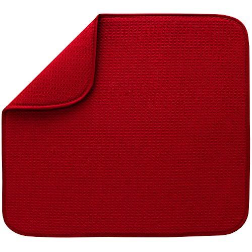 S&T Microfiber Dish Drying Mat 16 x 18 Red