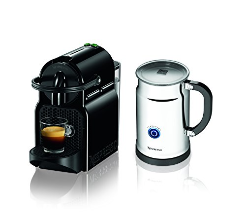 Nespresso Inissia Espresso Maker with Aeroccino Plus Milk Frother Black Discontinued Model