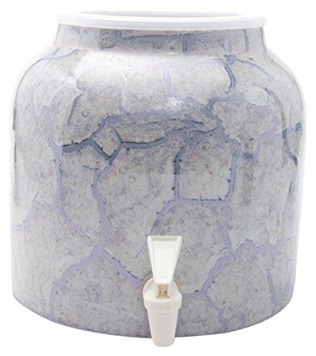 Bluewave Marble Design Water Dispenser Crock Gray