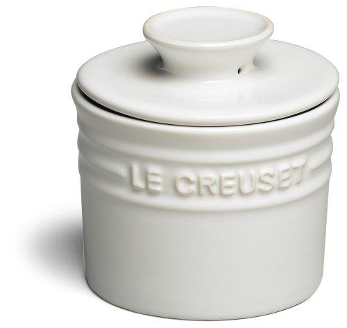 Le Creuset Stoneware Butter Crock 6-Ounce White
