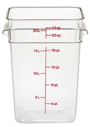Camwear Polycarbonate Square Food Storage container 22 Quart