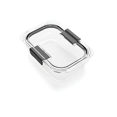 Rubbermaid Brilliance Food Storage Container Medium 32 Cup 100 Leak-Proof Plastic Clear