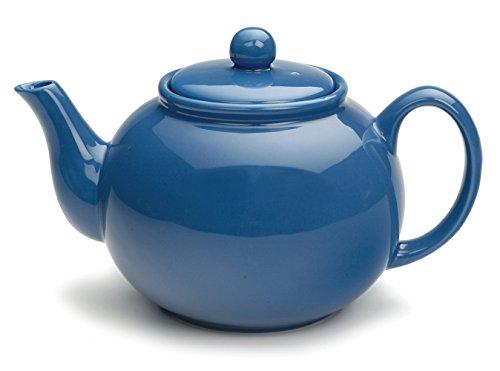 RSVP Large Stoneware 6-Cup Teapot Light Blue