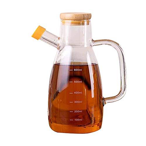 Olive Oil Dispenser Bottle Glass Oil Bottle Prevent Oil Spill Vinegar Crue Seasoning Syrup Dispensing Glass Cruets Bottle Container Condiment Bottle Seasoning Pot for kitchen