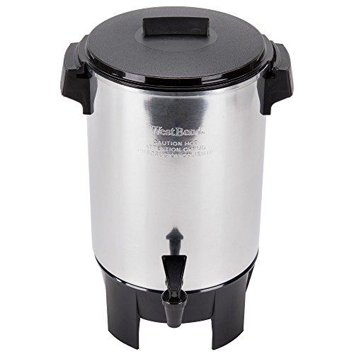 West Bend 58030R 30 Cup 12 Gallon Aluminum Light Duty Coffee Urn