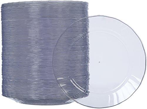 AmazonBasics Disposable Plastic Plates - 100-Pack 75-inch