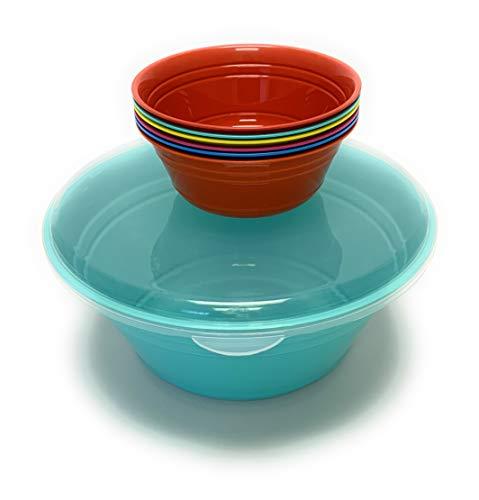 Mintra Home Snack Bowls Popcorn Bowl Set Teal