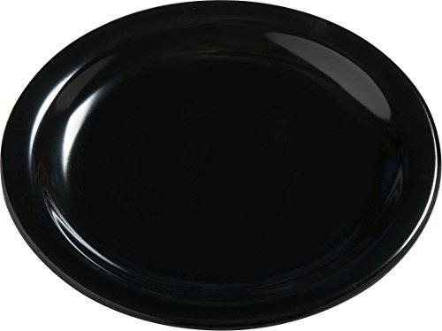 Carlisle 4385603 Dayton Melamine Bread Butter Plates 55 Black Set of 48