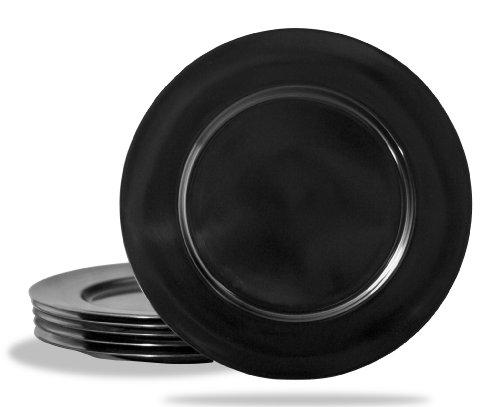 Calypso Basics by Reston Lloyd Melamine Salad Plate Set of 6 Black
