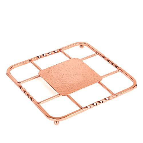 Creative Home 50234 Renaissance Square Trivet 8 Copper