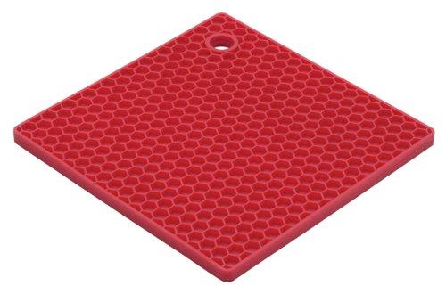 HIC Essentials Cherry Honeycomb Silicone Trivet 7-Inch