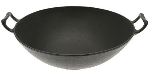 Iwachu 410-688 Cast Iron Wok Large Black