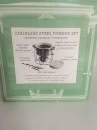 Martha Stewart 14 Piece Stainless Steel Fondue Set