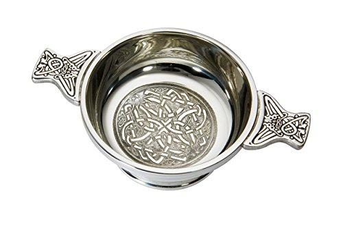 Wentworth Pewter - Medium Celtic Circle Pewter Quaich Whisky Tasting Bowl Loving Cup Burns Night
