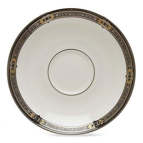 Lenox Vintage Jewel Platinum-Banded Bone China Saucer by Lenox