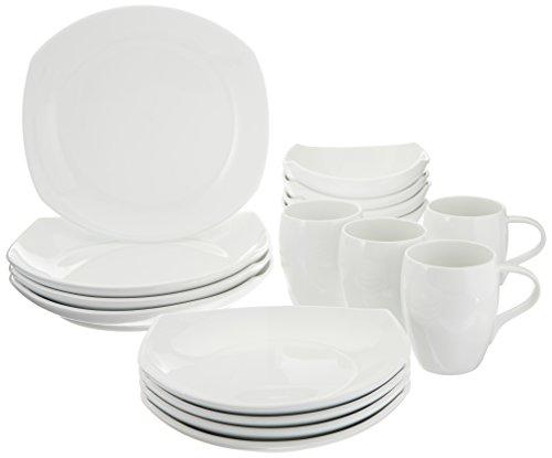Dansk 16-Piece Classic Fjord Porcelain Dinnerware Set White
