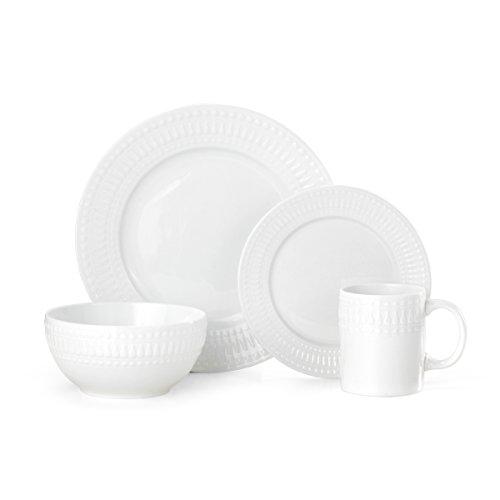 Pfaltzgraff Cassandra 16-Piece Porcelain Dinnerware Set Service For 4