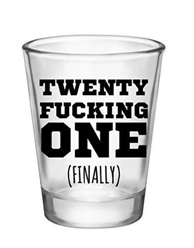 21st Birthday Shot Glass-Novelty Gifts for 21st Birthday Party Shot Glass