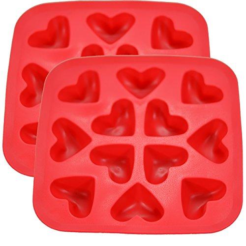 Fairly Odd Novelties Heart Shape Flexible Ice Cube Red Rubber Novelty Gag Gift 2-Pack