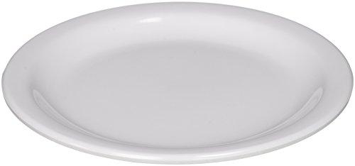 Winco MMPR-6W Round Melamine Plate 65-Inch White  12 Count