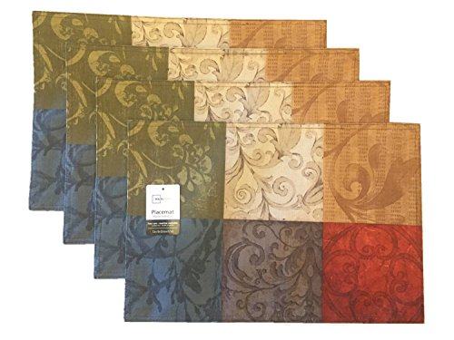 Mainstays Tuscany Kitchen Collection Fabric Placemats Set of 4