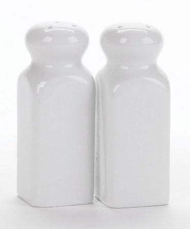 Bia Cordon Bleu Inc 901125 4 Square Porcelain Salt& Pepper Shakers 2 Count
