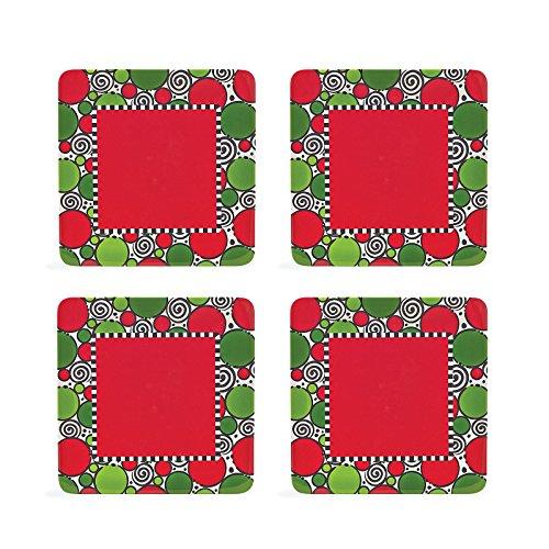 Christmas Square Melamine Polka Dot Platter 4