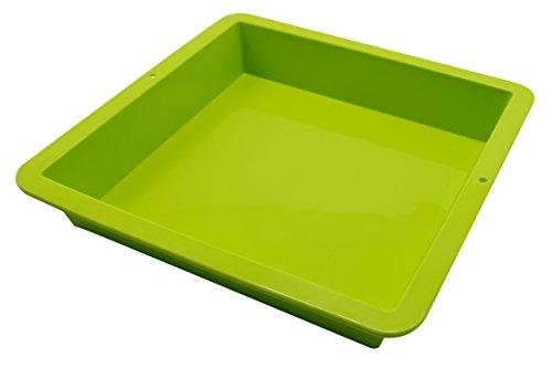 Marathon Housewares KW200013GR Premium Silicone Square Cake Pan Green