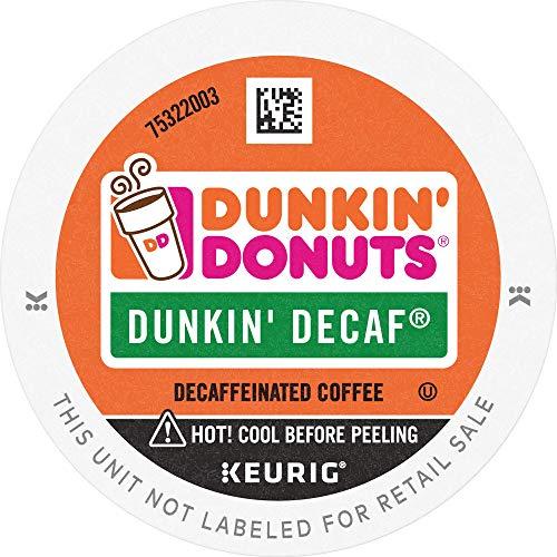 Dunkin Donuts Medium Roast Decaf Coffee 88 K Cups for Keurig Makers