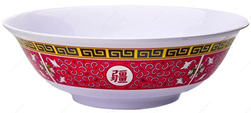 Melamine Oriental Pho Noodle Soup Bowl 70 Ounce Longevity Design Set of 4