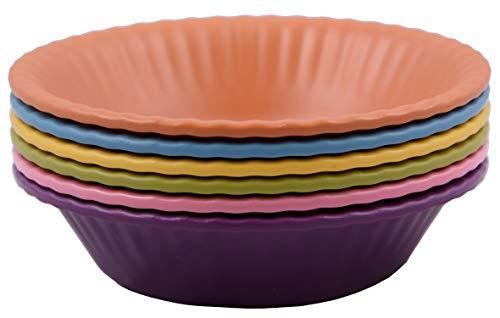 Melange 6-Piece 100 Melamine Bowl Set Paper Plate Collection  Shatter-Proof and Chip-Resistant Melamine Bowls  Color Multicolor