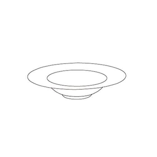 Ceramic Pasta Bowl Set Frosted Straw Hat Dish Salad Bowl Mixing Bowl Black And White