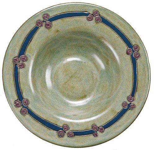 Mara Ceramic Stoneware 12 Inch Antique Green Pasta Bowl
