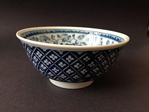 2 Pieces of 6 Diameter Japanese Porcelain Blue White Lotus Rice Soup Bowls