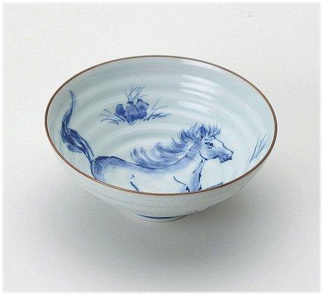 Y y kiln dye left horse rice bowl Arita porcelain rice bowl and enjoy toy kitchen utensils with set meiyo-M54359400-810