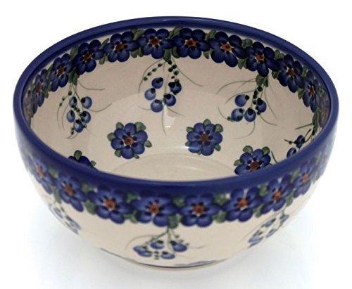 BCV Classic Boleslawiec Polish Pottery Hand Painted Ceramic Stoneware Salad Bowl 17 litres  31 pints 074-U-001