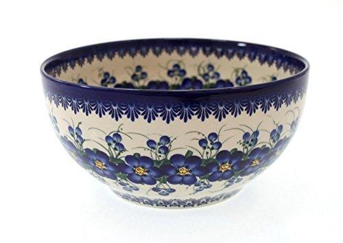 Classic Boleslawiec Polish Pottery Hand Painted Ceramic Salad Bowl Large 25 litre 075-U-003