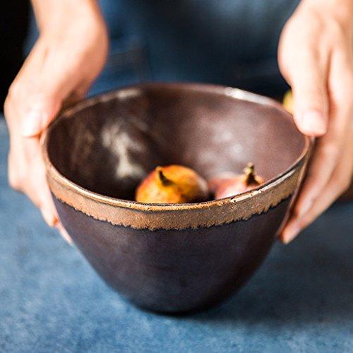 Japanese-style Vintage Ceramics salad Bowl Personality ramen Deep soup bowl 700ml
